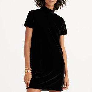 NWT Madewell Velvet Mockneck Shift Dress SZ XXS/XL